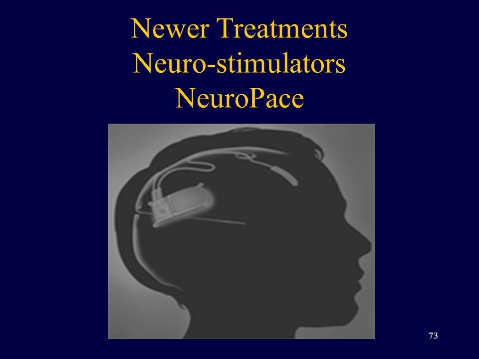 Newer Treatments Neuro-stimulators NeuroPace 73