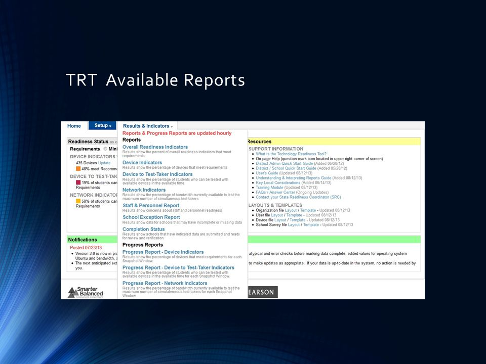 TRT Available Reports