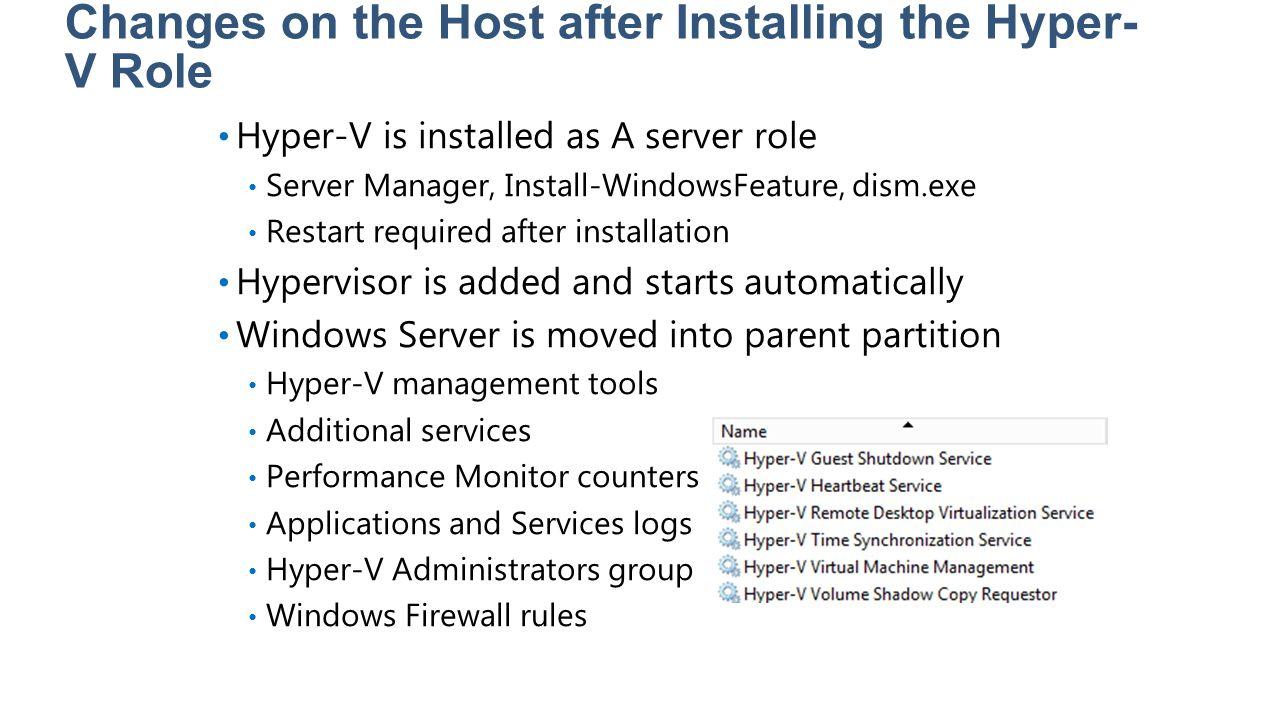 Lesson 2: Managing Hyper-V Overview of the Hyper-V Manager Console Adding the Hyper-V Manager Console Using Windows PowerShell to Manage Hyper-V Managing Hyper-V in a Workgroup Environment Hyper-V Best Practices Analyzer Hyper-V Security Model