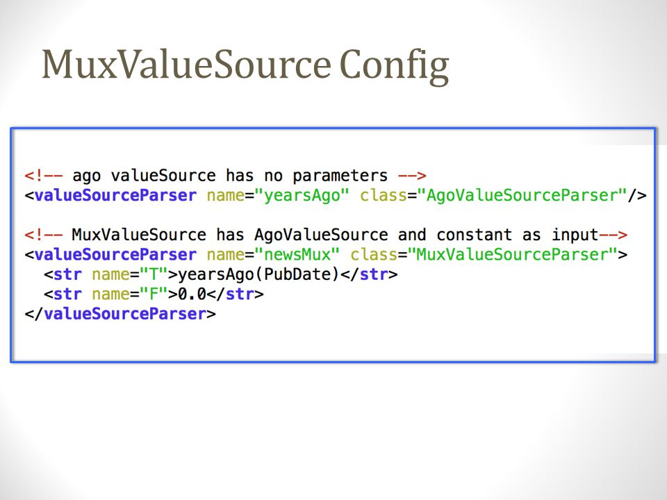 MuxValueSource Config