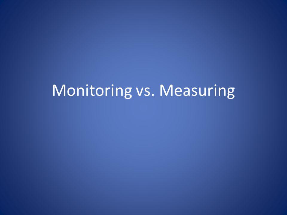 Monitoring vs. Measuring