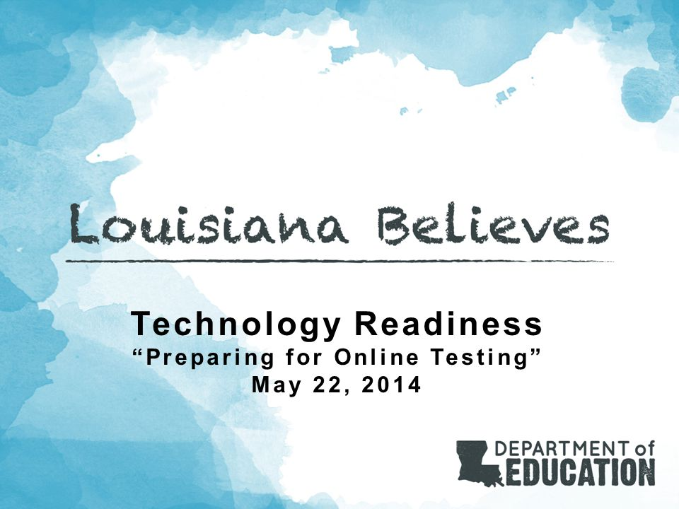 Agenda What Does Technology Readiness Mean.