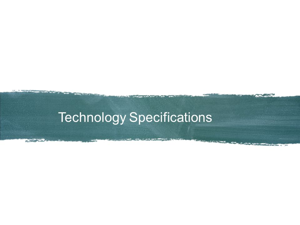 Technology Specifications