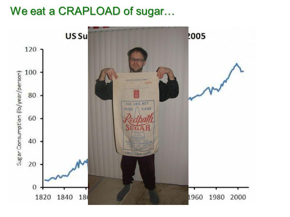 We eat a CRAPLOAD of sugar…