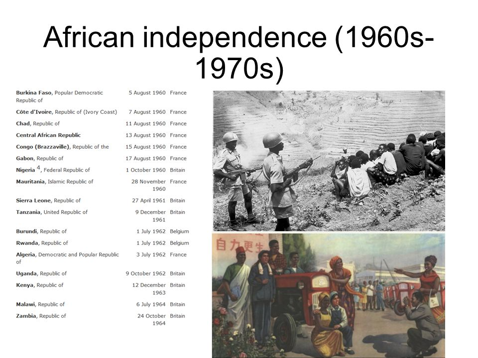 African independence (1960s- 1970s)