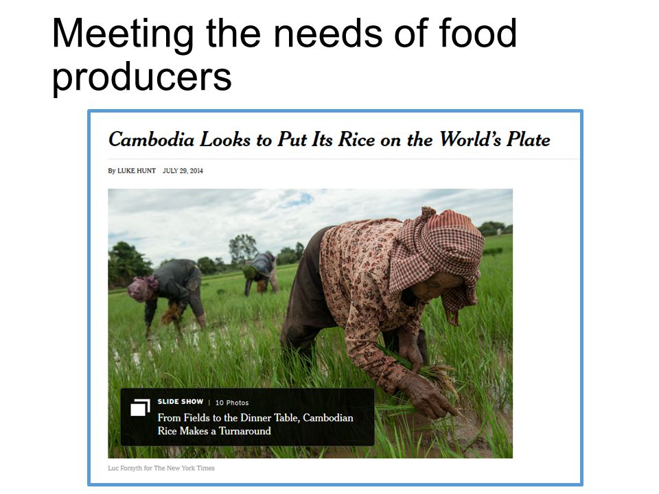 Meeting the needs of food producers