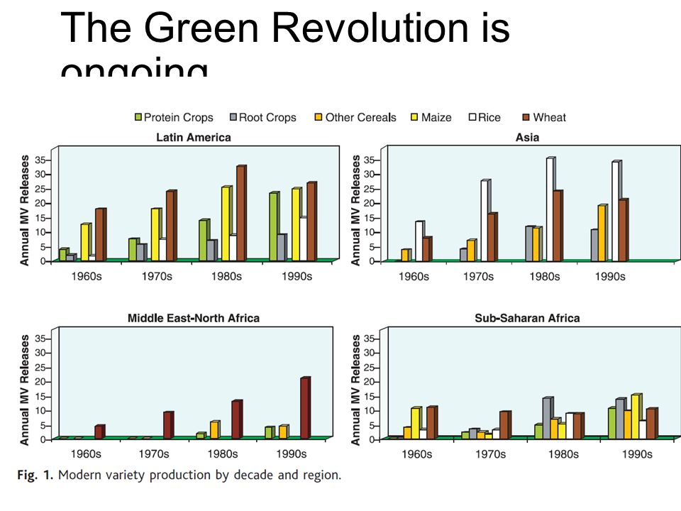 The Green Revolution is ongoing