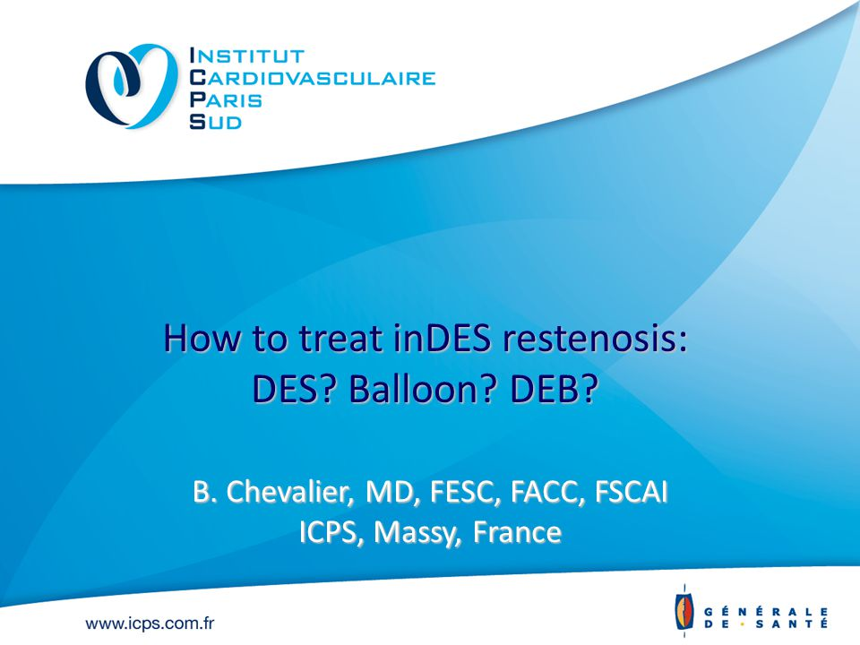 How to treat inDES restenosis: DES. Balloon. DEB.