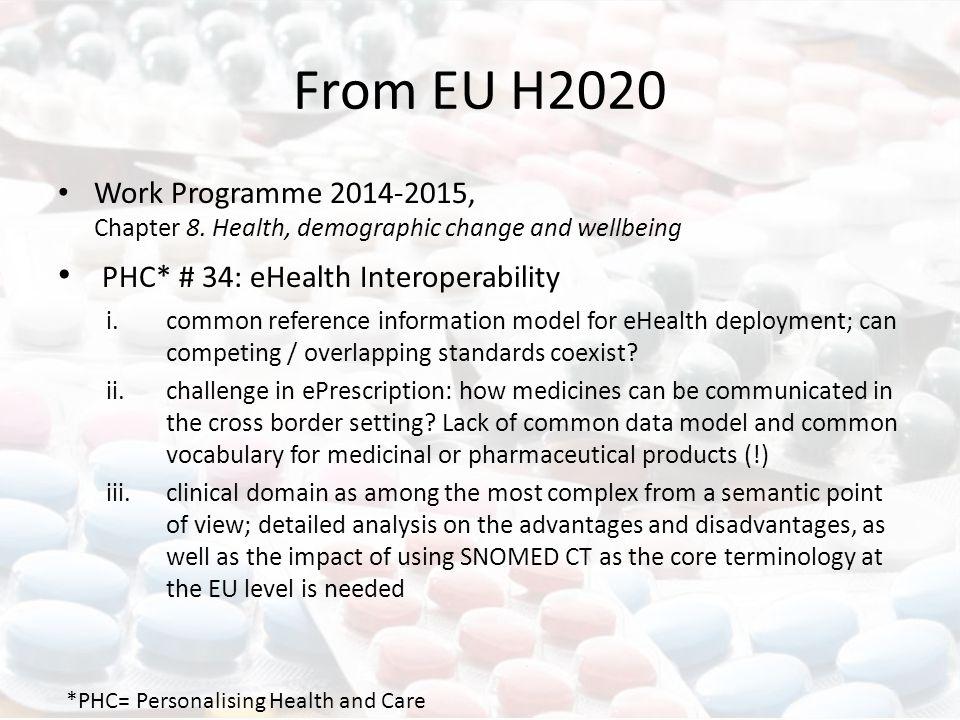 From EU H2020 Work Programme 2014-2015, Chapter 8.