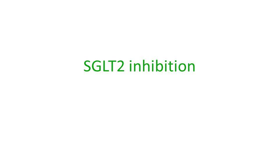 SGLT2 inhibition