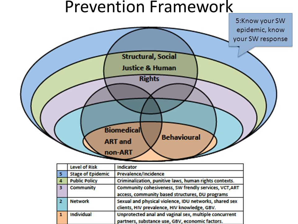 Prevention Framework 5:Know your SW epidemic, know your SW response