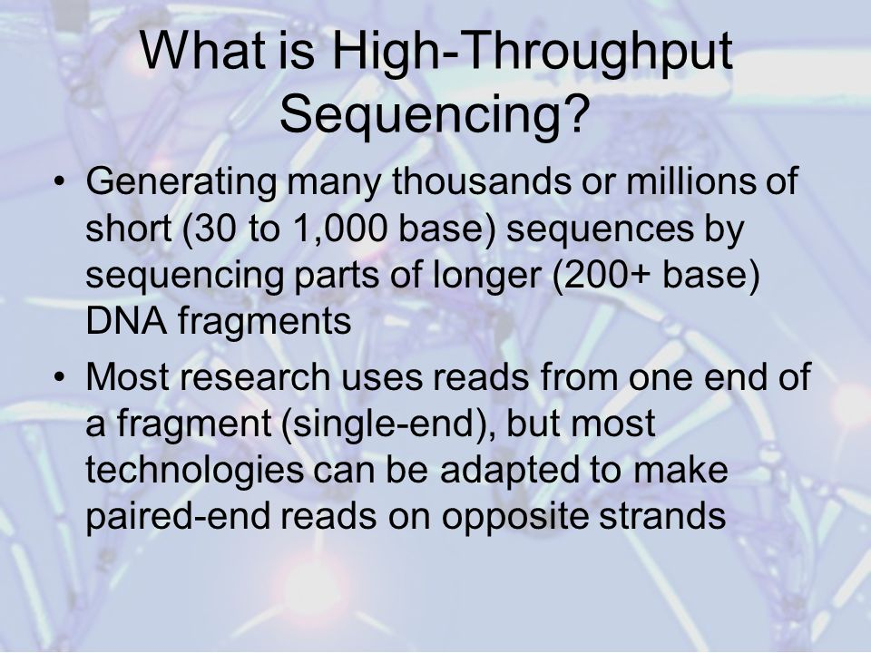 What is High-Throughput Sequencing.