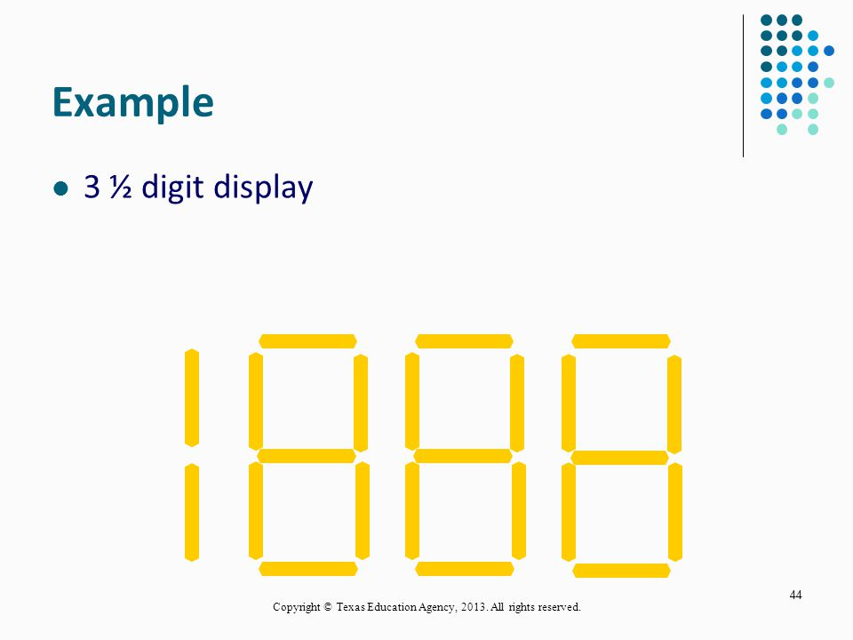 DMM Display A DMM display is not like a calculator. A four digit calculator can read from 0 to 9999. A multimeter that can display four digits could h