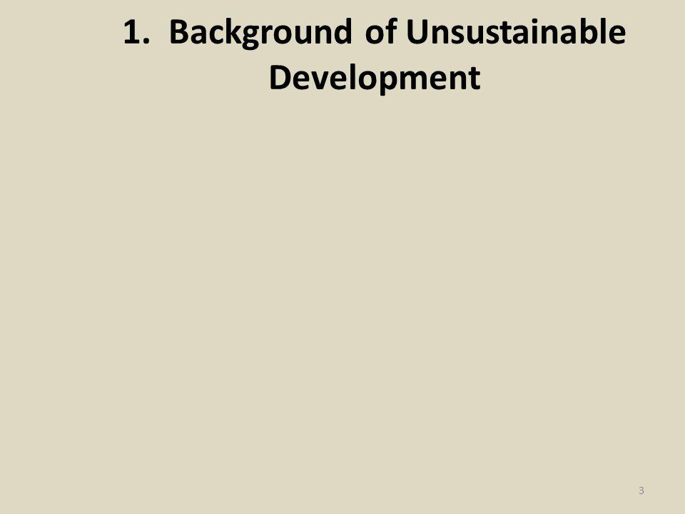 1. Background of Unsustainable Development 3