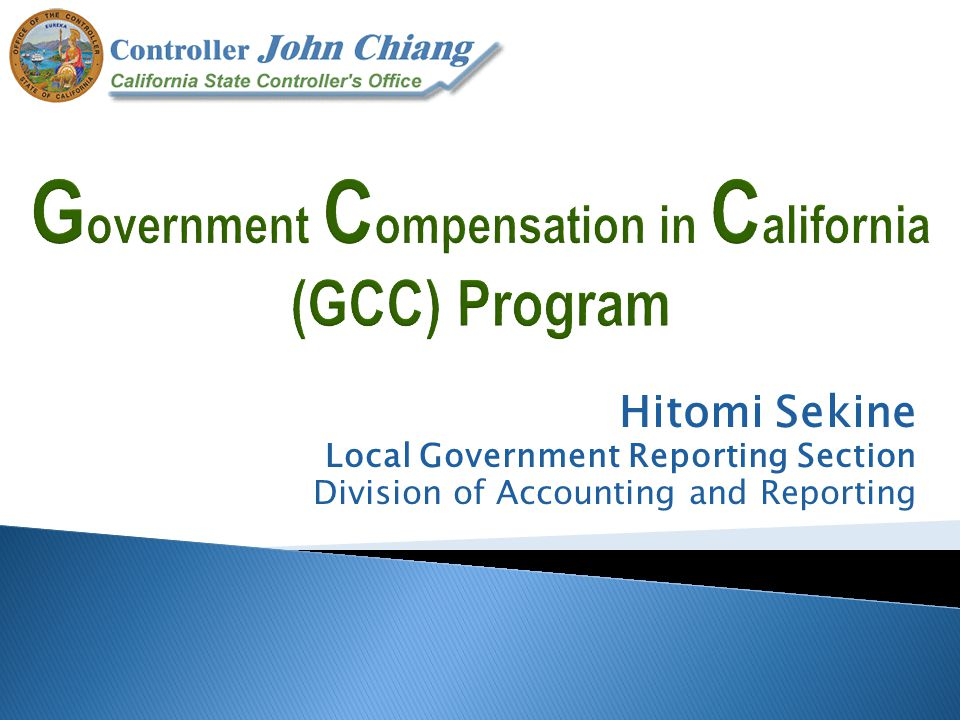 Hitomi Sekine Local Government Reporting Section Division of Accounting and Reporting
