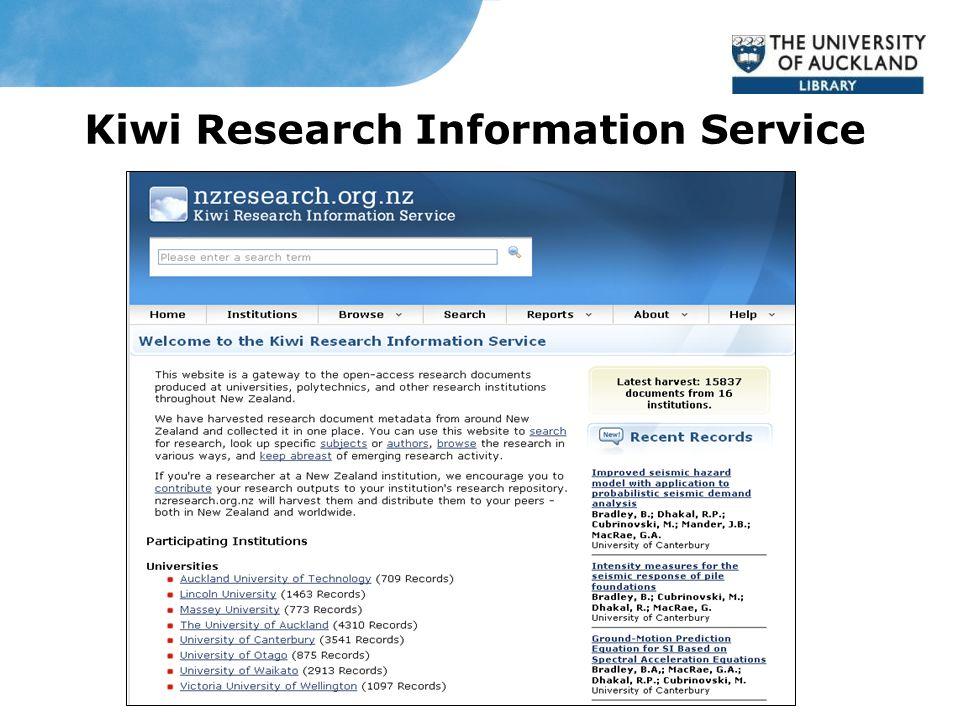 Kiwi Research Information Service
