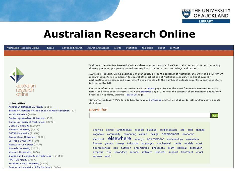 Australian Research Online