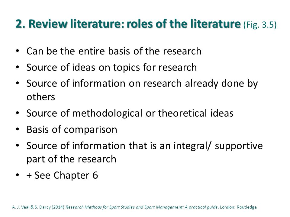 2. Review literature: roles of the literature 2. Review literature: roles of the literature (Fig.