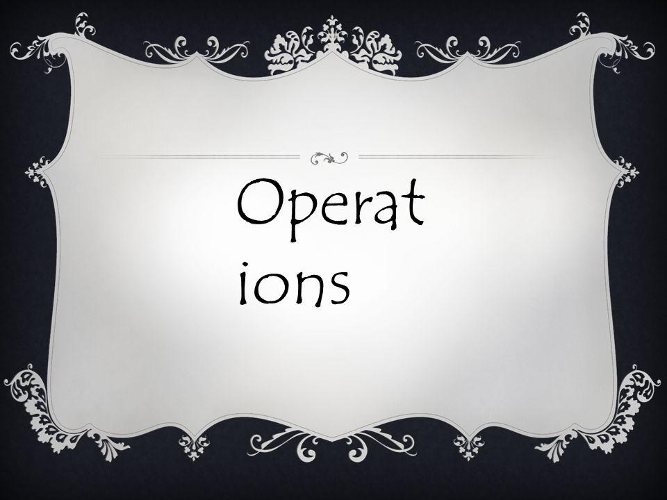 Operat ions