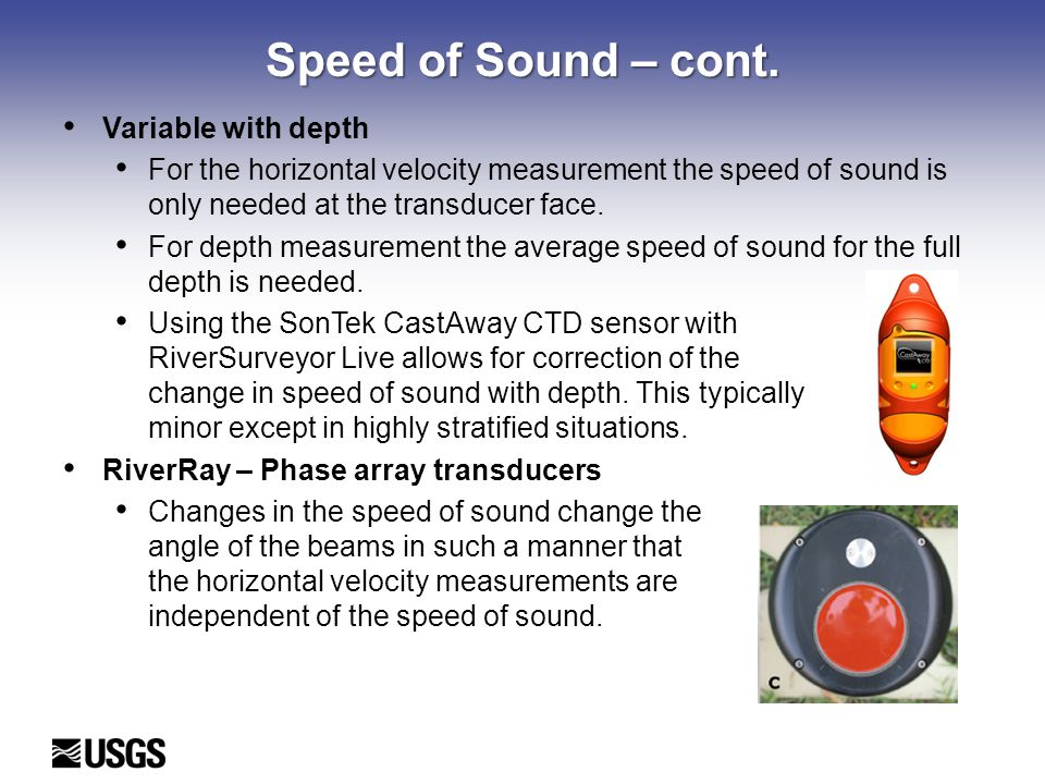 Speed of Sound – cont.