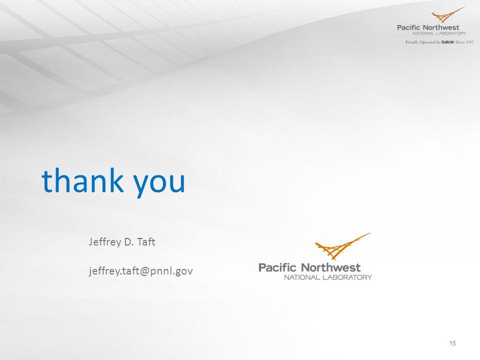 thank you 15 Jeffrey D. Taft jeffrey.taft@pnnl.gov