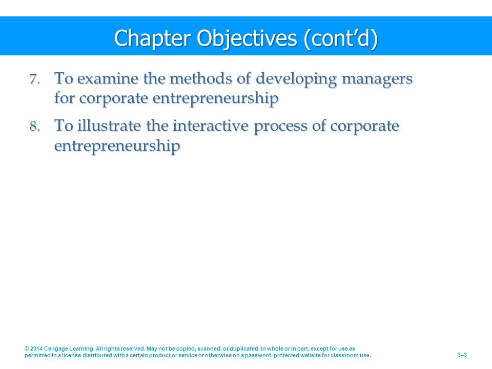 Chapter Objectives (cont'd) 7.
