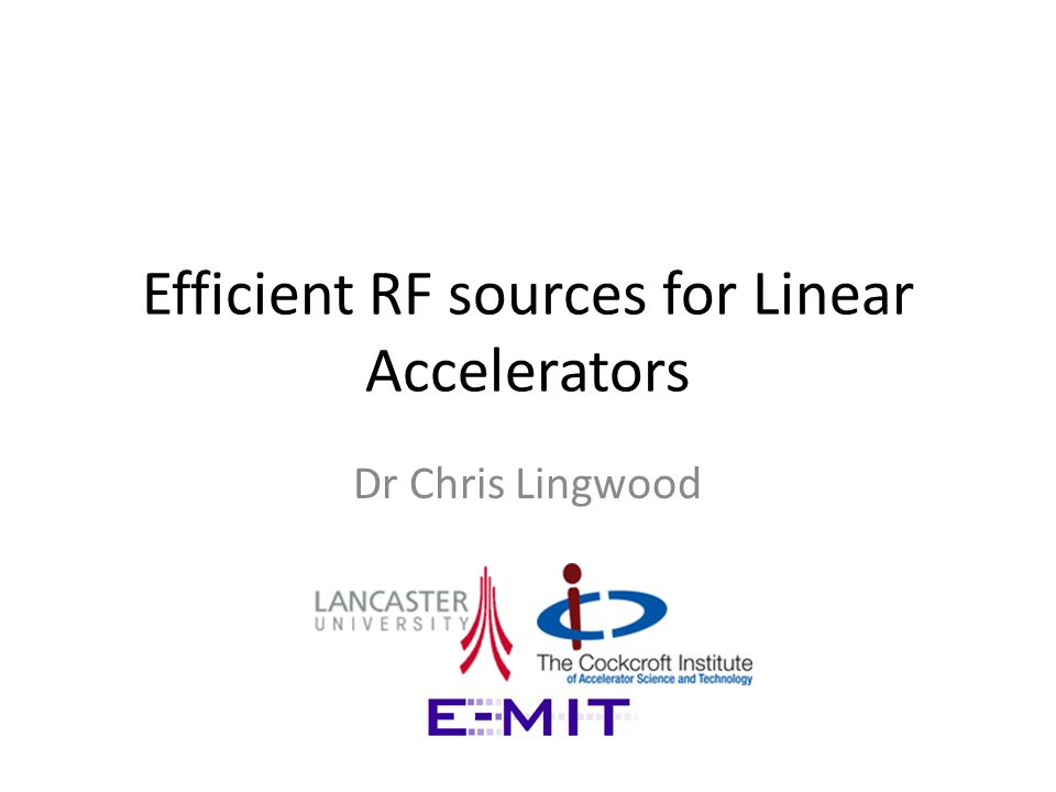 Motivation LARGE numbers of RF sources are required for future linear colliders.