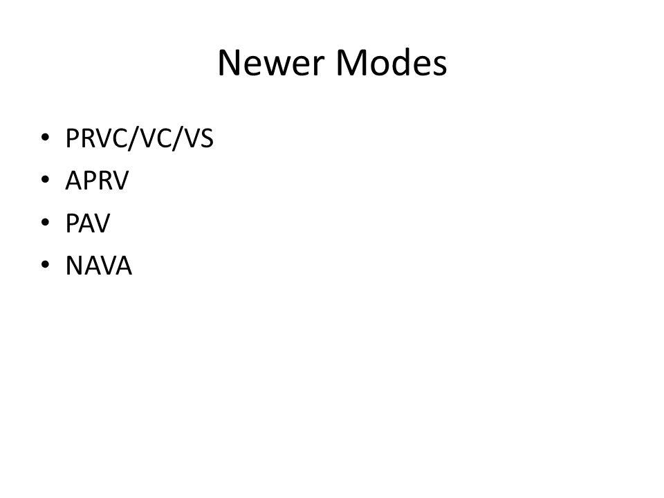 Newer Modes PRVC/VC/VS APRV PAV NAVA