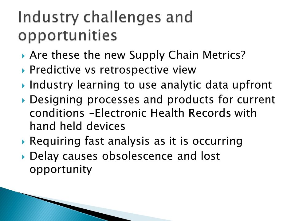  Are these the new Supply Chain Metrics.