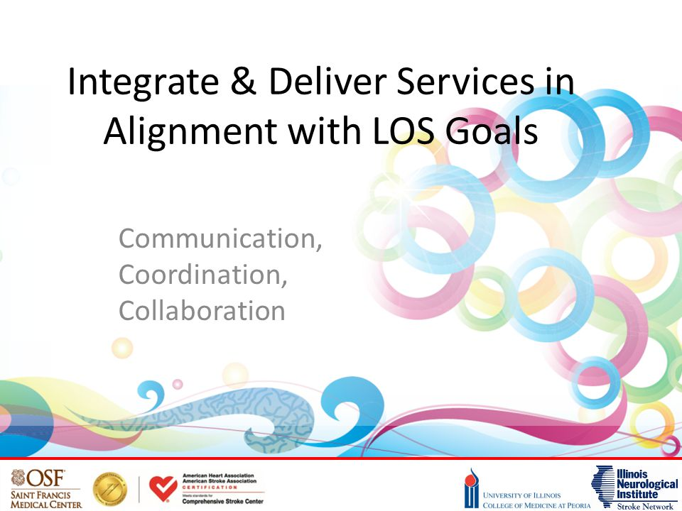 Integrate & Deliver Services in Alignment with LOS Goals Communication, Coordination, Collaboration