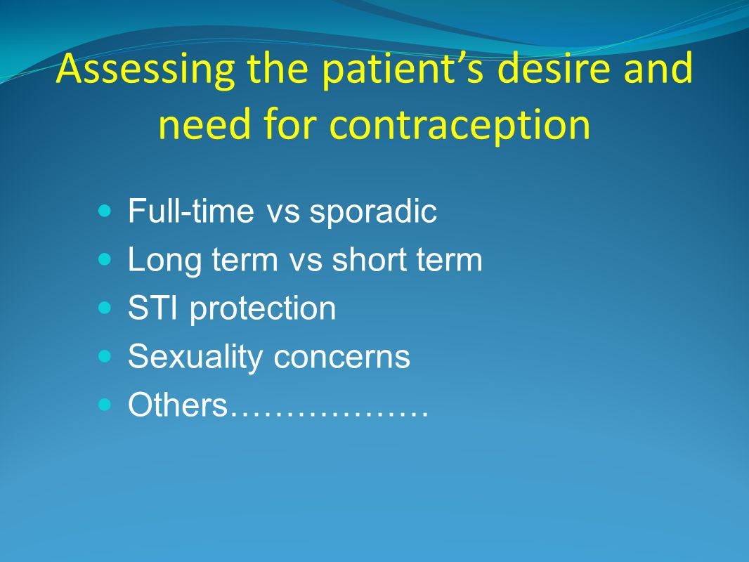Background: Importance of Contraception Unintended pregnancy