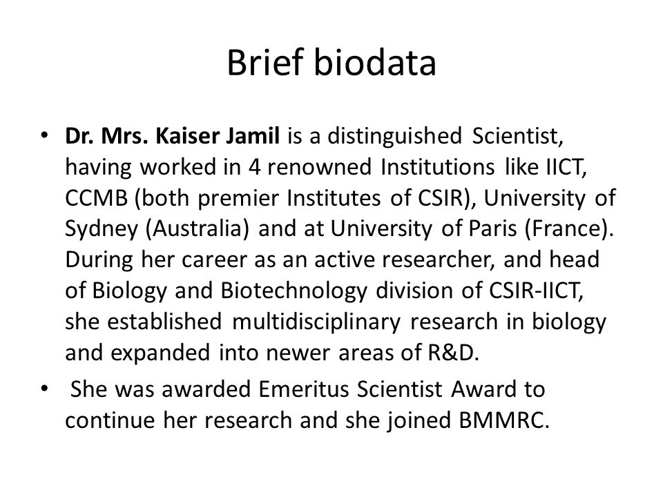 Brief biodata Dr. Mrs.