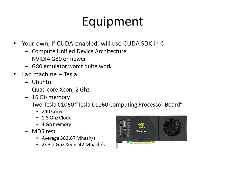 Equipment May use our Beowulf cluster for MPI, beancounter.math.uaa.alaska.edu – 13 custom-built boxes each containing a dual processor 1 Ghz Pentium III, 768 Mb of shared memory – Total of 27 nodes, including the master.