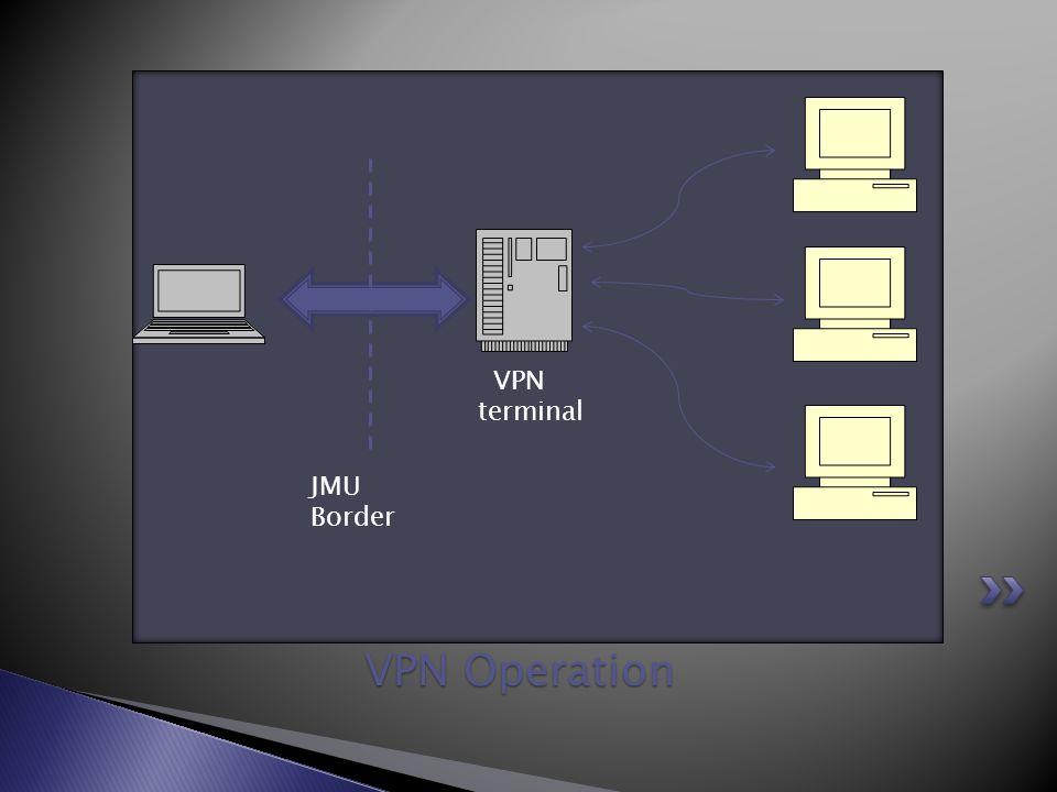 VPN Operation JMU Border VPN terminal