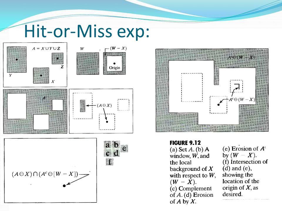 Hit-or-Miss exp: