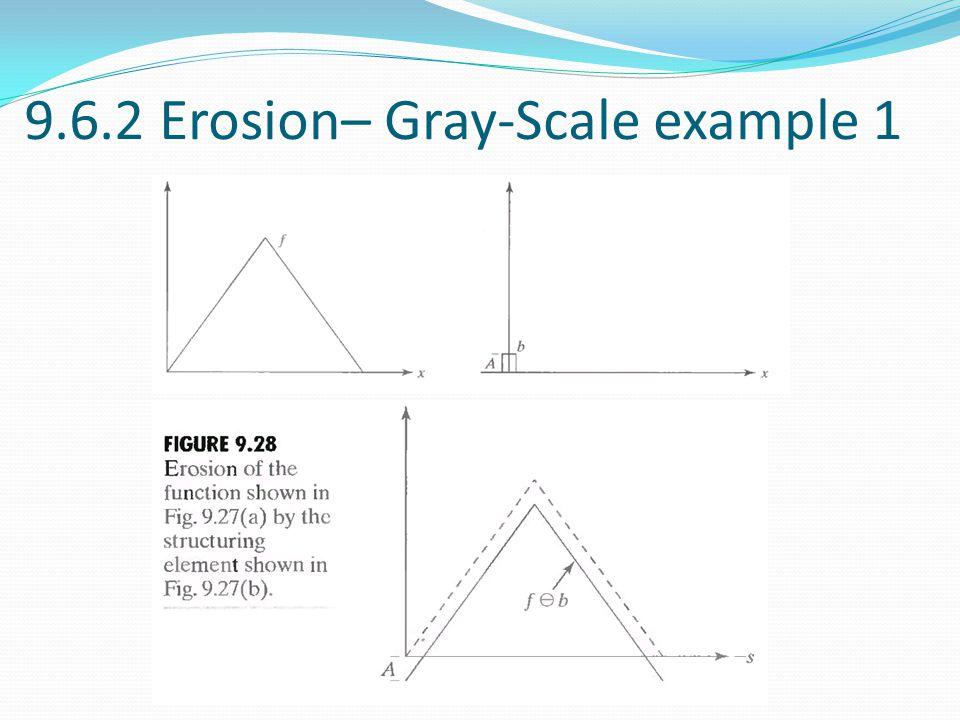 9.6.2 Erosion– Gray-Scale example 1