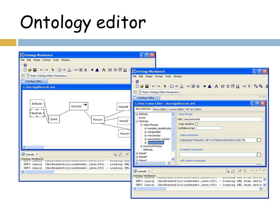 Ontology editor