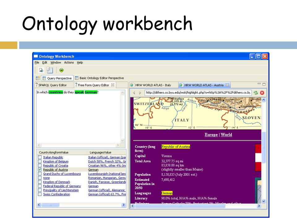 Ontology workbench