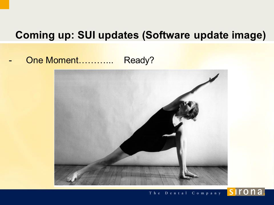 Coming up: SUI updates (Software update image) -One Moment………... Ready