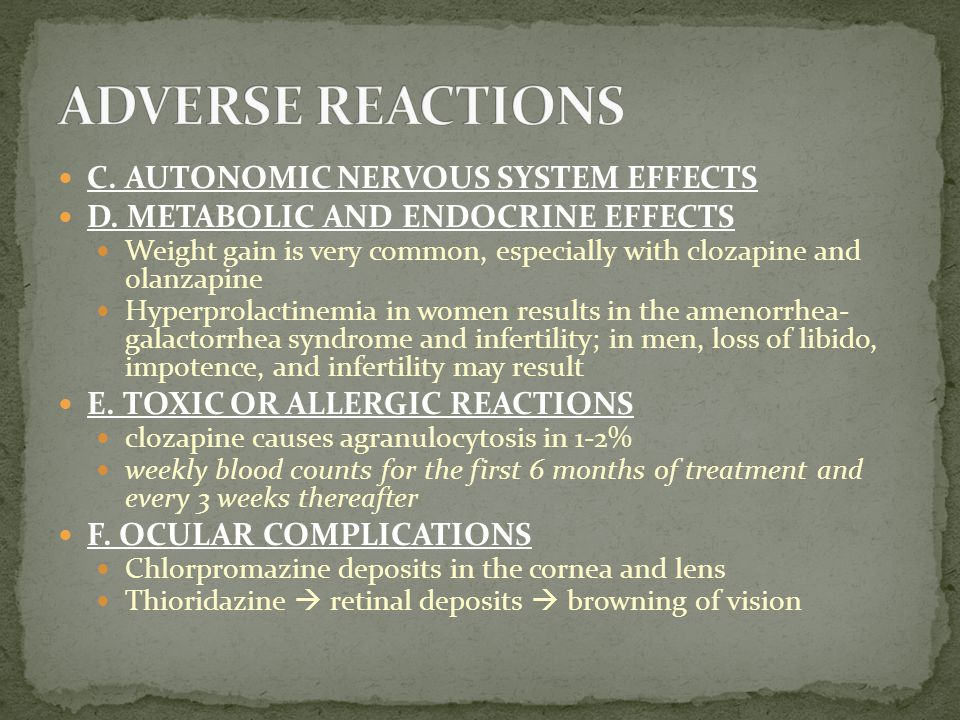 C.AUTONOMIC NERVOUS SYSTEM EFFECTS D.
