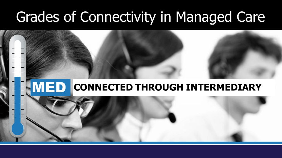 MED CONNECTED THROUGH INTERMEDIARY Grades of Connectivity in Managed Care