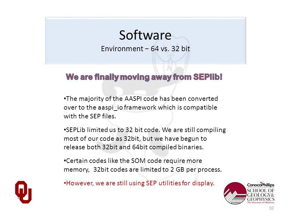 Software Environment − 64 vs.