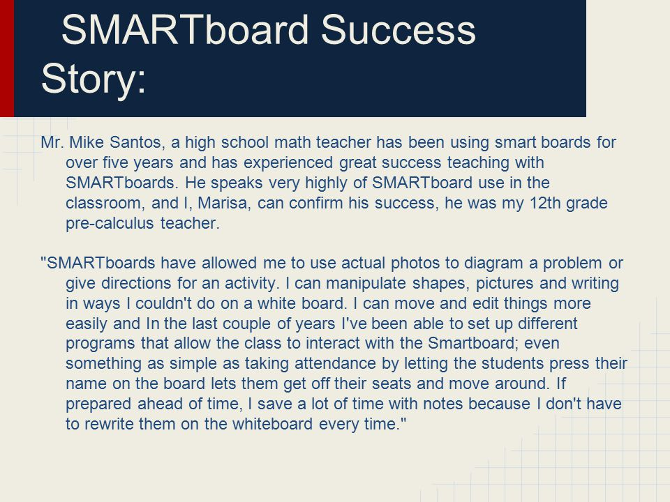 SMARTboard Success Story: Mr.
