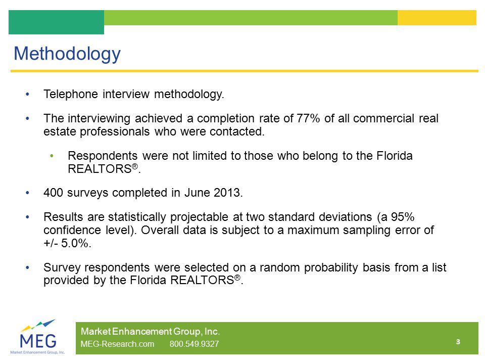 3 Methodology Telephone interview methodology.
