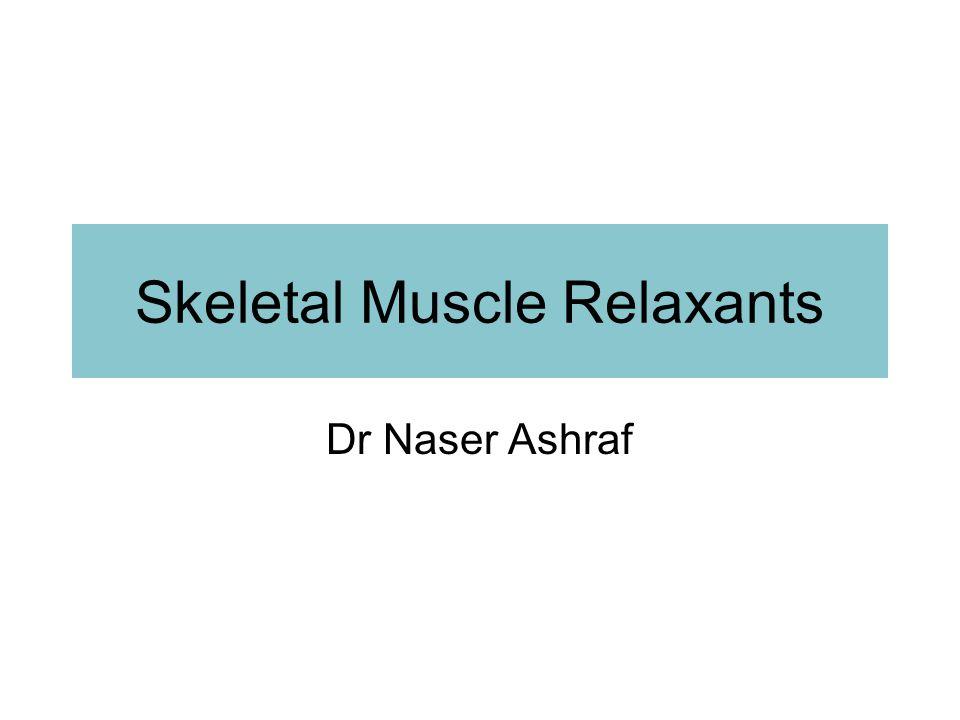 Skeletal Muscle Relaxants Dr Naser Ashraf