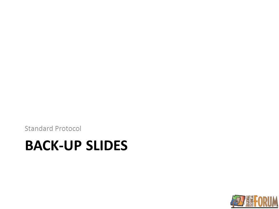 BACK-UP SLIDES Standard Protocol