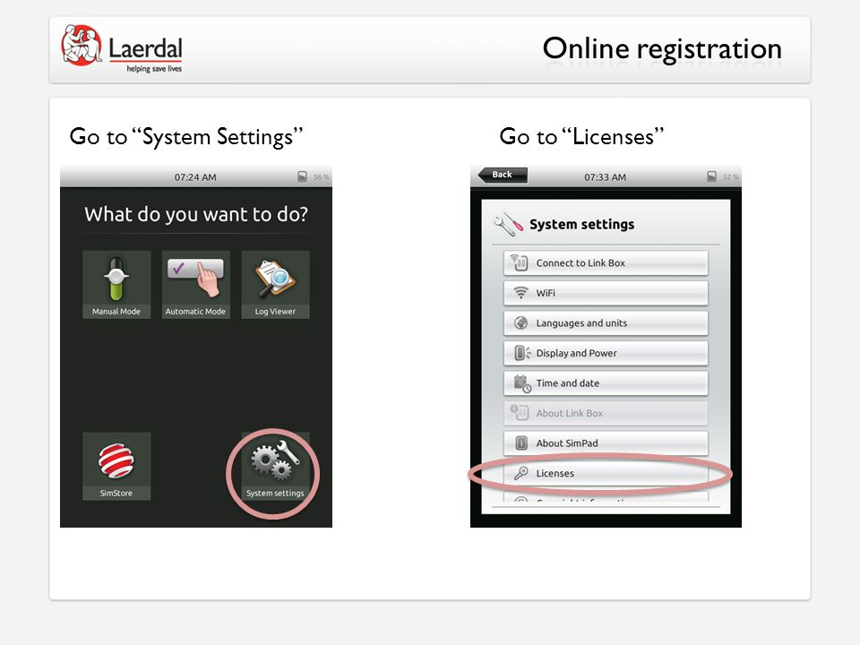 Go to System Settings Go to Licenses