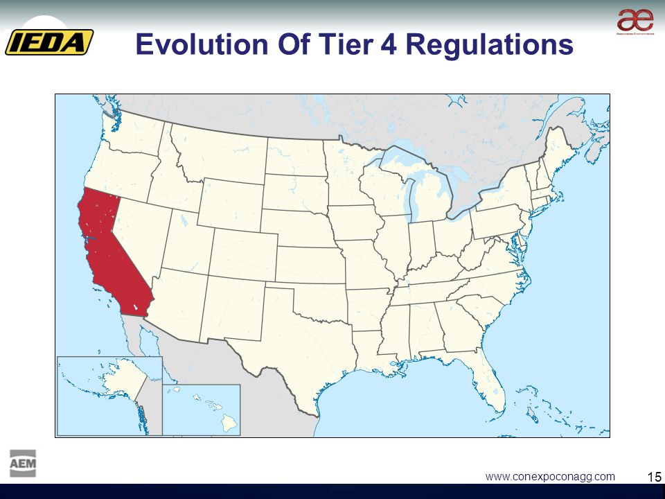 15 www.conexpoconagg.com Evolution Of Tier 4 Regulations