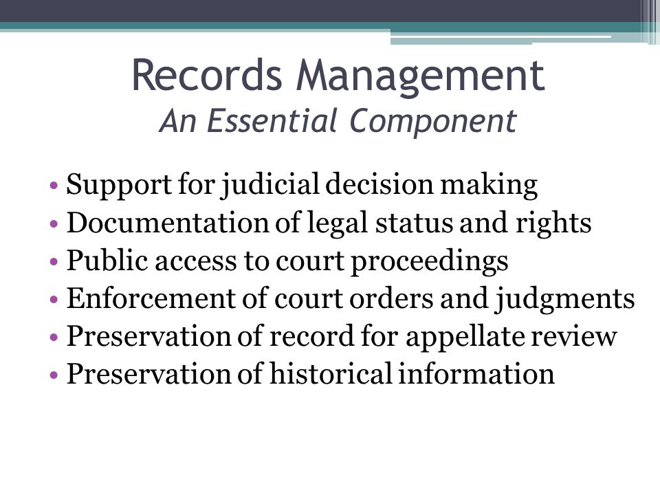 Records Defined – (ISO 15489-1) Information created, received, and maintained as evidence and information by an organization or person, in pursuance of legal obligations or in the transaction of business.