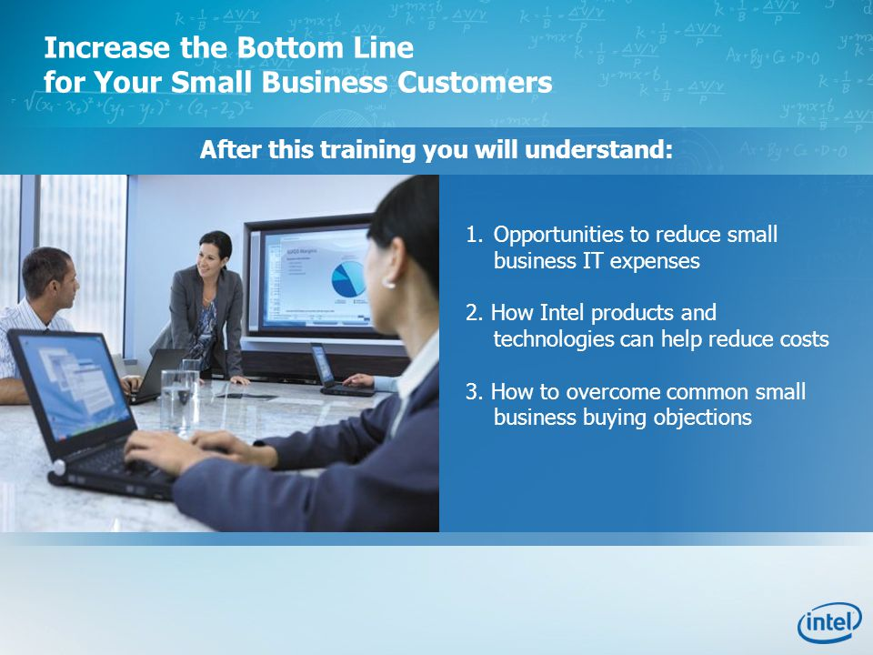 After this training you will understand: 1.Opportunities to reduce small business IT expenses 2.